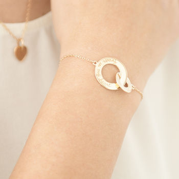 Personalised Intertwined Chain Bracelet 18K Gold Plated