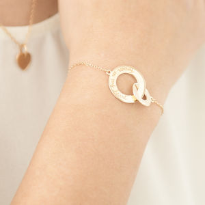Personalised Intertwined Chain Bracelet - gifts for the bride