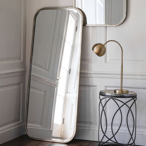 Antiqued Silver Slim Full Length Mirror