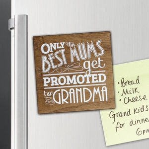 Wood Best Grandma Magnet - kitchen