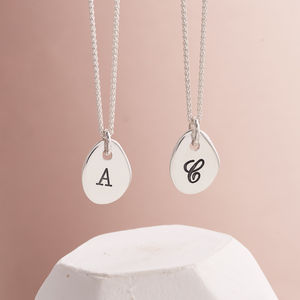 Solid Silver Personalised Initial Necklace