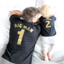 Big Man, Little Man Football Style T Shirt Set