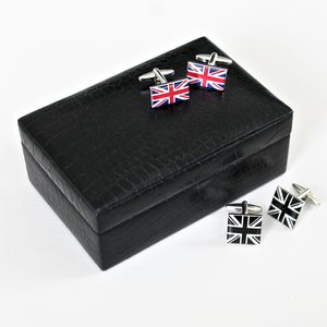 Leather Cufflinks Case ~ Medium - men's accessories