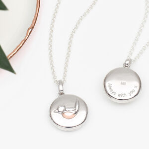 Personalised Sterling Silver And Gold Robin Locket