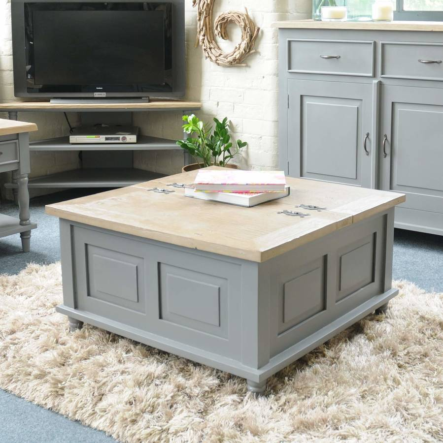 Storage Trunk Coffee Table Grey Or Antique White By The