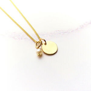 Yellow Gold Personalised Birthstone Pendant