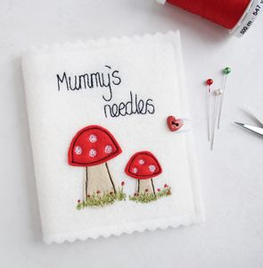 Personalised Toadstool Needle Case - pin cushions