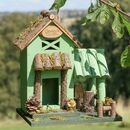 Personalised Green Cottage Garden Bird House