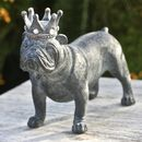 Bulldog With Crown Sculpture