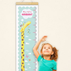Personalised Giraffe Height Chart - baby's room