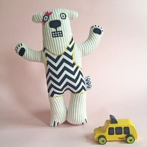 Handmade Polar Bear Soft Toy Can Be Personalised