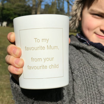 To My Favourite Mum Candle