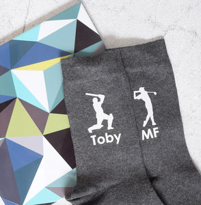 Personalised Men's Sports Hobbies Cotton Socks