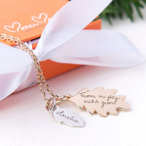 Personalised Acorn Necklace - necklaces & pendants