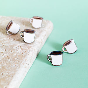 Coffee Mug Enamel Pin
