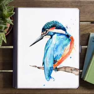Inky Kingfisher Tablet Case With Stand - womens