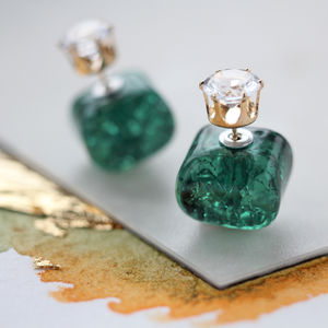 Double Sided Square Earrings