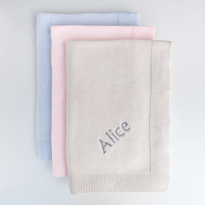Personalised Knitted Baby Blanket - baby care