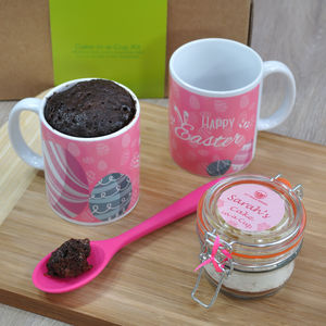 Dairy Free Personalised Chocolate Easter Mug Cake Kit - children's cooking