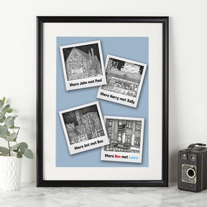 Personalised 'Where We Met' Print