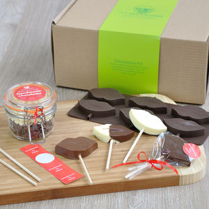 Chocolate Gift For Girl: Lips Lollipops Kit - novelty chocolates