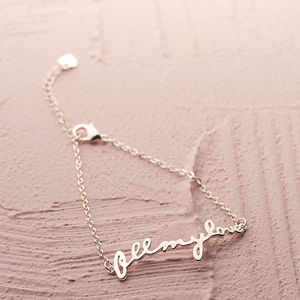 Personalised All My Love Bracelet - best valentine's gifts