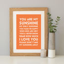 Orange background with oak frame
