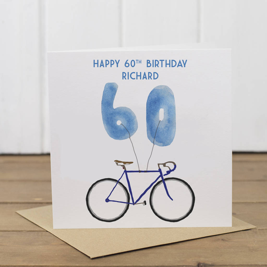 Personalised Bike 60th Birthday Card