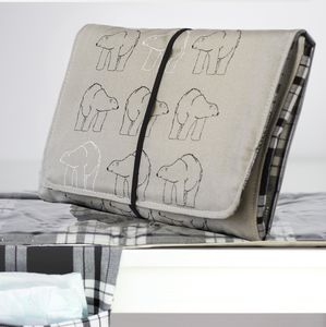Baby Travel Changing Mat, Polar Bear - gifts for new parents