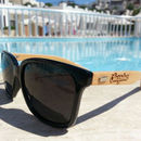 Bamboo Square Wayfarer Shape Sunglasses