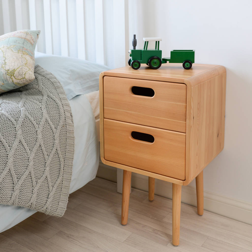 Children s solid wood bedside table by snug