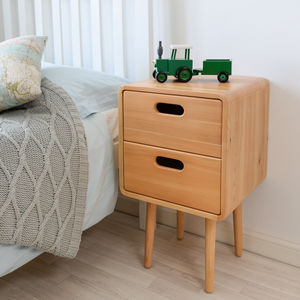 Children's Solid Wood Bedside Table - baby's room
