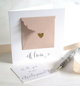 Personalised Bridesmaid Precious Message Card - be my bridesmaid?