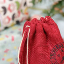 Do Not Open Until 25th December Berry Red Bottle Bag