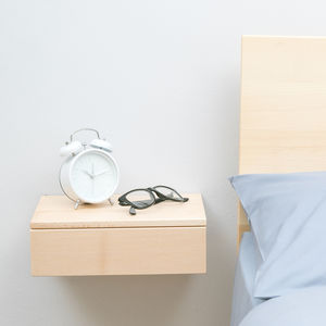 Floating Beech Bedside Drawer - home accessories