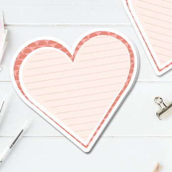 Heart Shaped Notecards Pack Of 10