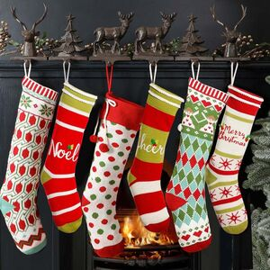 Nordic Knitted Christmas Stockings