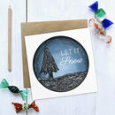 Let It Snow Illustrated Christmas Card