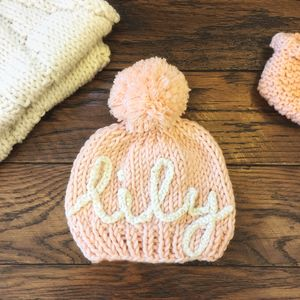 Knit Your Own Baby Personalised Name Hat Kit