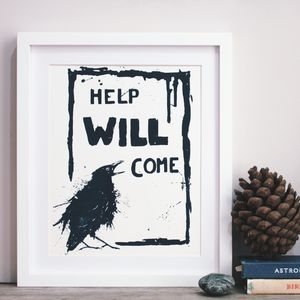 Reassuring Raven Original Screen Print