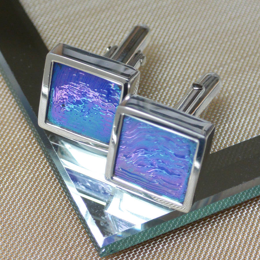 Iridescent Italian Glass Cufflinks