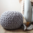 Classic Plympton Hand Knitted Footstool
