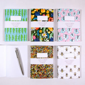 'Meadow Me' Set Of Three A6 Notebooks