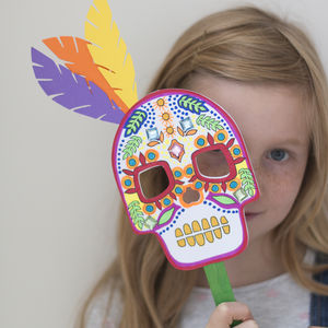 Make Your Own Day Of The Dead Mask Kit - halloween