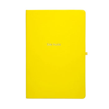 Side Hustle Yellow A5 Notebook