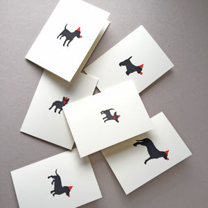 Red Nose Doggy Card - cards & wrap