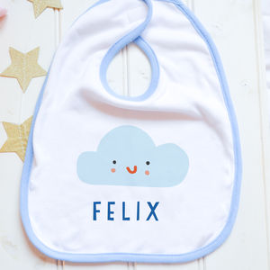 Personalised Bib 'Cloud' - baby care