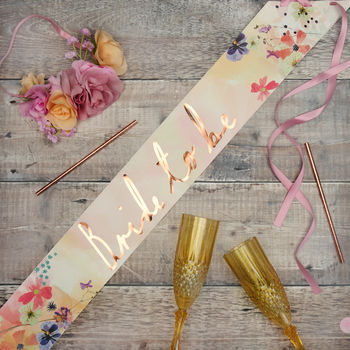 Hen Party Bride To Be Floral Blossom Sash
