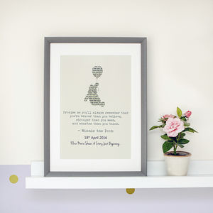 Personalised Winnie The Pooh Typography Print - posters & prints for children