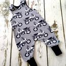 New! Motorbike Baby Romper, Baby Dungarees, Toddler